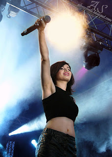 Ewelina Lisowska koncert 20.07.2014 Szymanów, śpiewa, na żywo, na scenie