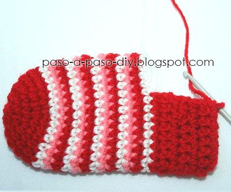 Calcetines para navidad tutorial paso a paso - Como hacer talon de calcetines de lana ...