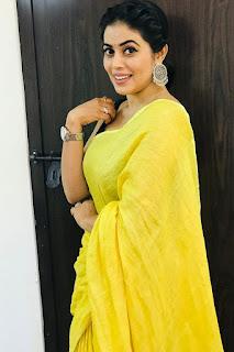 Actress Shamna Kasim (Poorna) Gorgeous Photoshoot In Yellow Dress