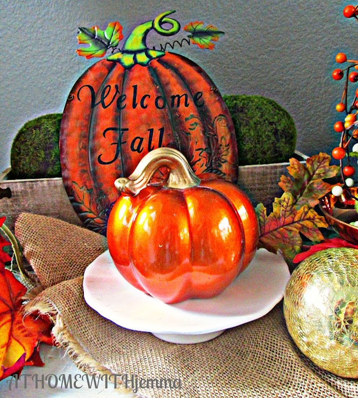Welcome Fall Entry Vignette