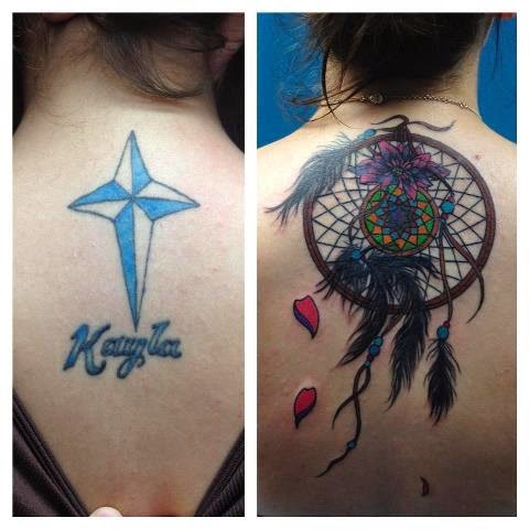 Tattoo Cover Up Ideas An artist magically turned this putrid butterfly tattoo into a this cover up was done by megan massacre who has appeared on the cover of inked, freshly inked and inked girls. tattoosession com