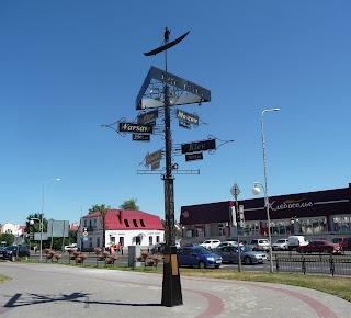Пінськ. Вказівник відстані до європейських столиць