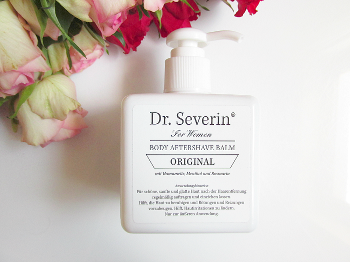 Unboxing: fem.box Fitness Box Dezember - DR. SEVERIN Woman Body Aftershave Balsam - 200ml - 33.10 Euro