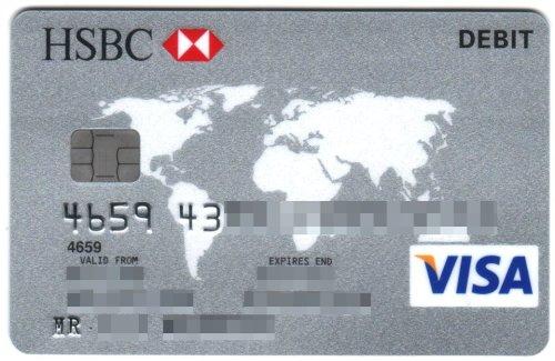 Sort code visa debit hsbc uae