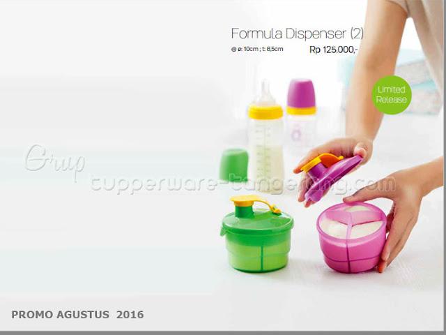 Tempat susu formula tupperware