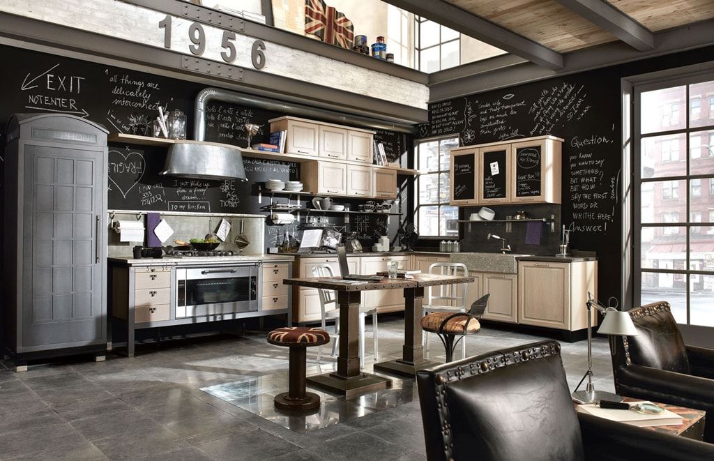 25 ideas para una cocina de estilo industrial cocinas for Decoracion retro industrial
