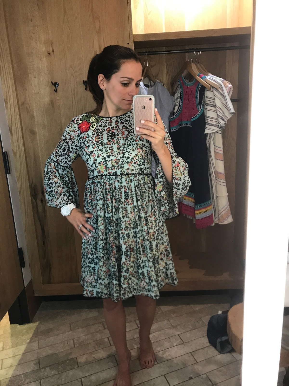 64793c7b244 Libra Embroidered Tunic Dress - This was a winner. I'd see a few other  bloggers that I follow post about it and I had to try it on. It's so  flattering.