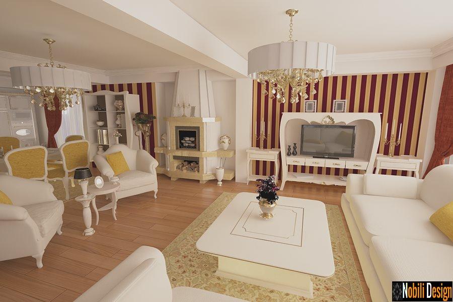 Design interior casa Bucuresti - Design interior living cu bucatarie-Amenajari Interioare