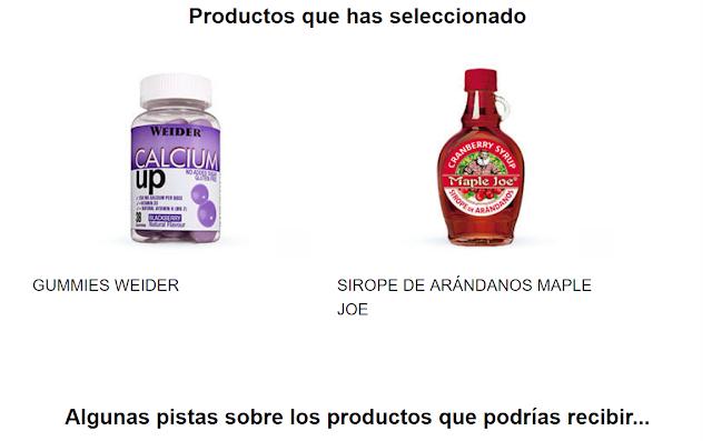 Productos seleccionados Testabox Marzo 2018