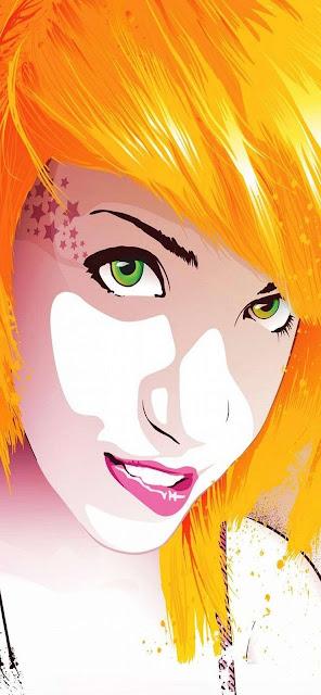 disegno, bionda, occhi verdi,