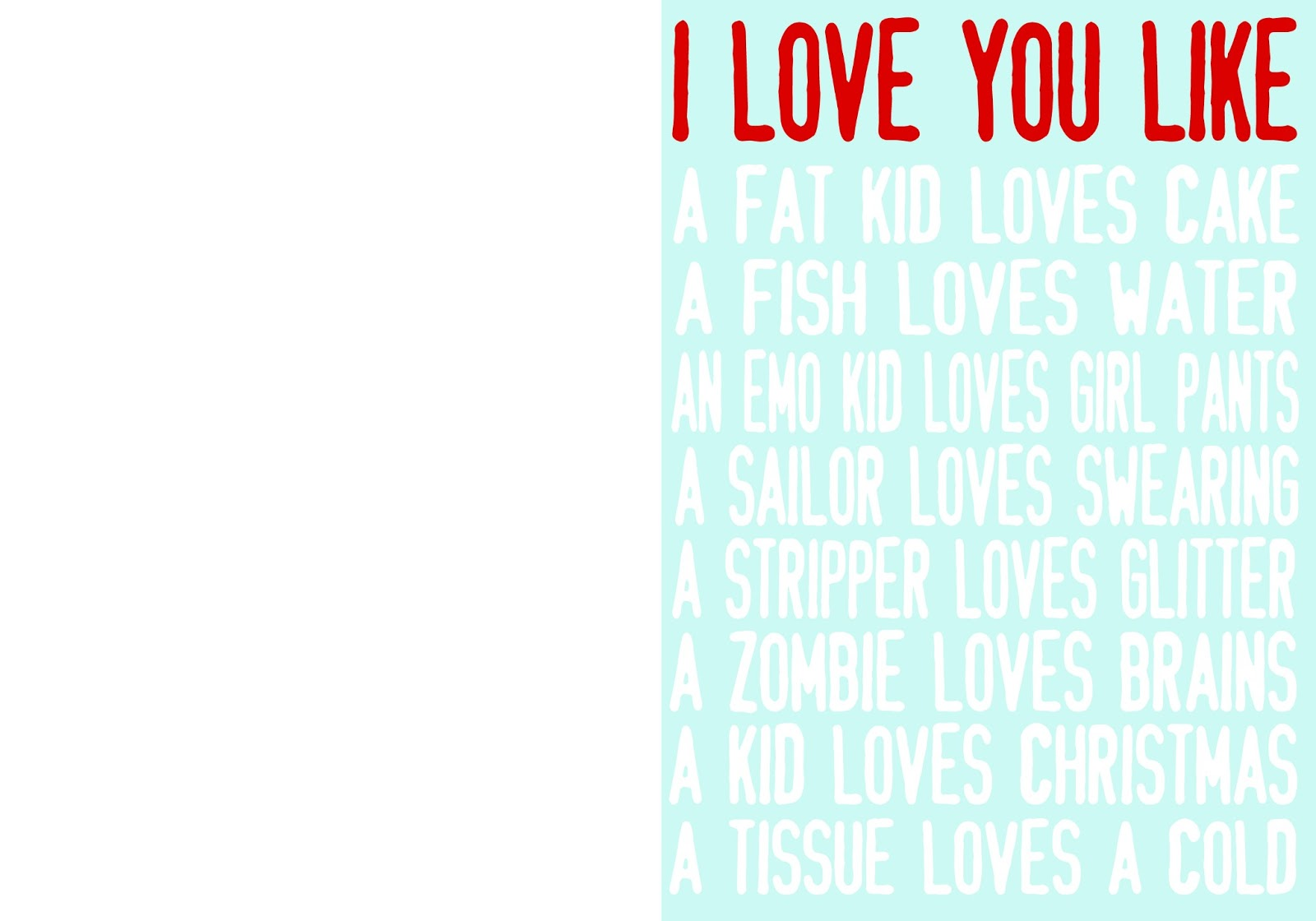 Day card printable valentine adult free