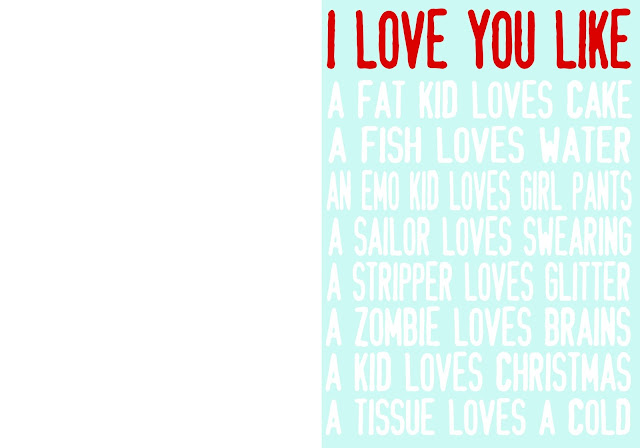 I love you like printable man valentine