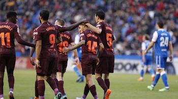 رسميا...برشلونة يتوج بلقب الدوري الإسباني بعد فوزه على ديبورتيفو لاكورونيا
