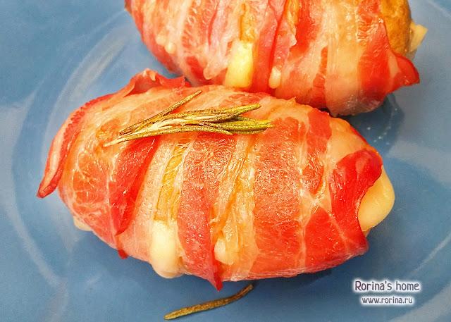 Картошка с беконом и сыром в духовке: рецепт с фото