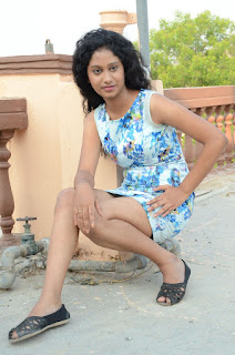 Actress Priyankha Stills in Floral Short Dress at Golmal Gullu Movie Pressmeet 0319.JPG