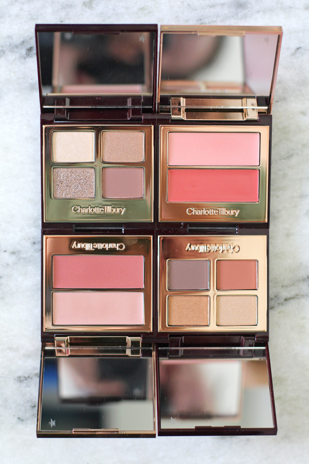 Charlotte Tilbury Beauty Filter eyeshadow palettes and blush & highlighter duos - luxury beauty blog