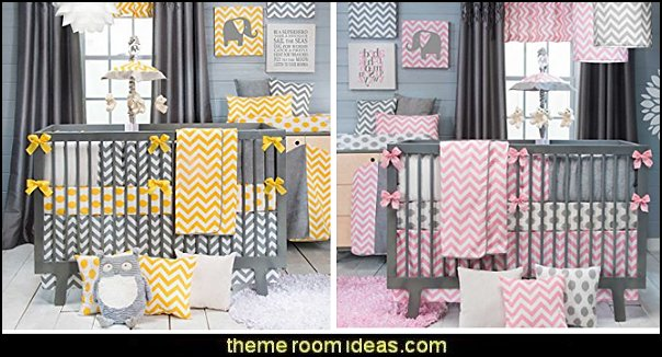zigzag Swizzle crib bedding  zig zag bedroom decorating ideas - Zig Zag wall decals - Chevron bedroom decorating ideas - zig zag wallpaper mural - zig zag decor - Chevron ZIG ZAG print - Herringbone Stencil - chevron bedding - zig zag rugs - Zigzag Bedding  -  Chevron Themed Comforter