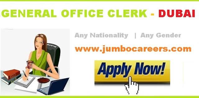 office clerk jobs dubai