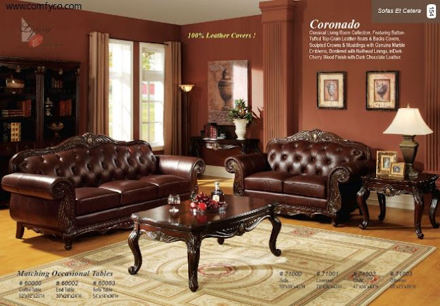 traditional leather living room furniture