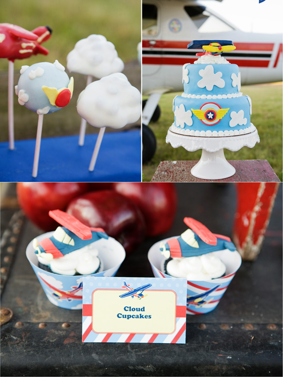 Little Aviator Airplane Inspired Birthday Party Ideas Cupcakes