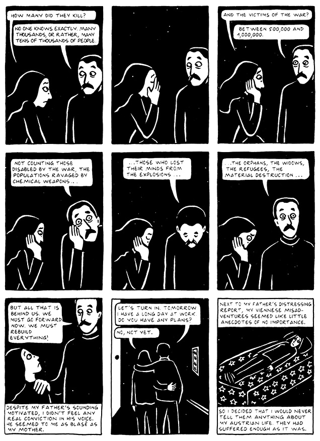 Read Chapter 10 - The Return, page 103, from Marjane Satrapi's Persepolis 2 - The Story of a Return