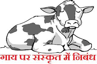 गाय पर संस्कृत में निबंध