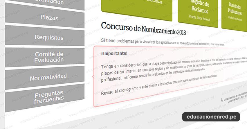 NOMBRAMIENTO DOCENTE: Precisiones sobre la Etapa Descentralizada [CRONOGRAMA] MINEDU - www.minedu.gob.pe