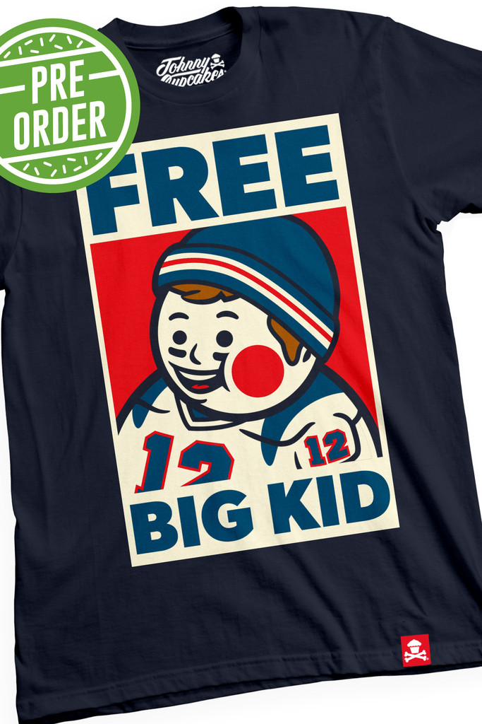"d5e695a6c The Blot Says...  Johnny Cupcakes x Tom Brady ""Free Big Kid"" T-Shirt"