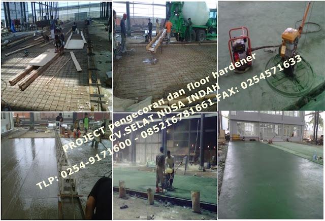 pengecoran beton fhinis floor hardener