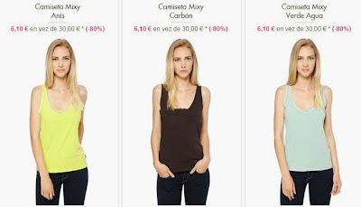 Camisetas de tirantes de colores