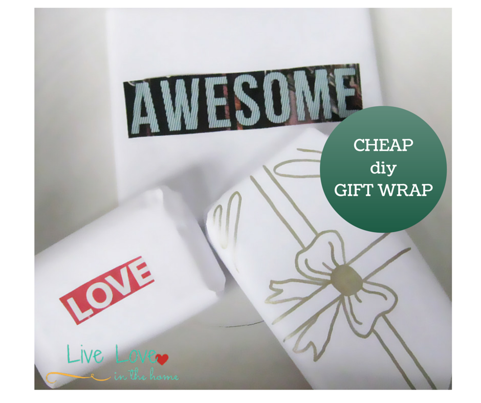 Cheap DIY Wrapping Paper | Live Love in the Home