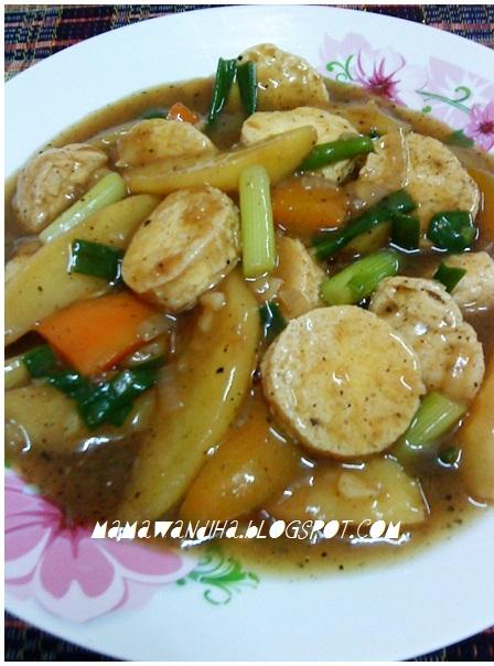Dari Dapur MaDiHaA: Tofu Telur & Kentang Sos Lada Hitam