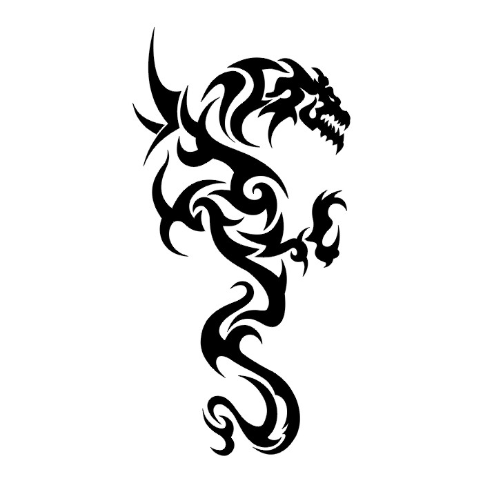 TATTOOS: Dragon Tattoo Stencils # 2
