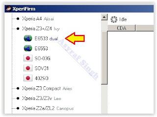 Download Sony Xperia Z3 Plus Dual Firmware