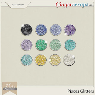 Creative Team, Annemarie, for GingerScraps -  Pisces by JoCee Designs and Coordinating Freebie