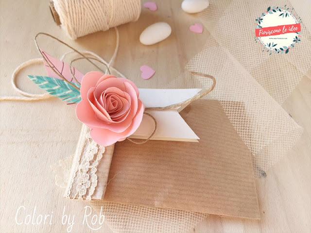 bomboniera di carta per un matrimonio boho chic