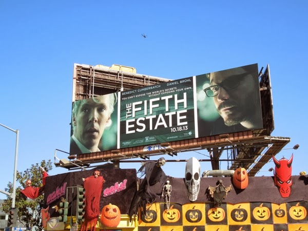 Fifth Estate movie billboard ad