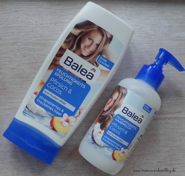 """Balea Feuchtigkeitsspülung & Feuchtigkeits-Haarmilch """"Pfirsich & Cocos"""""""