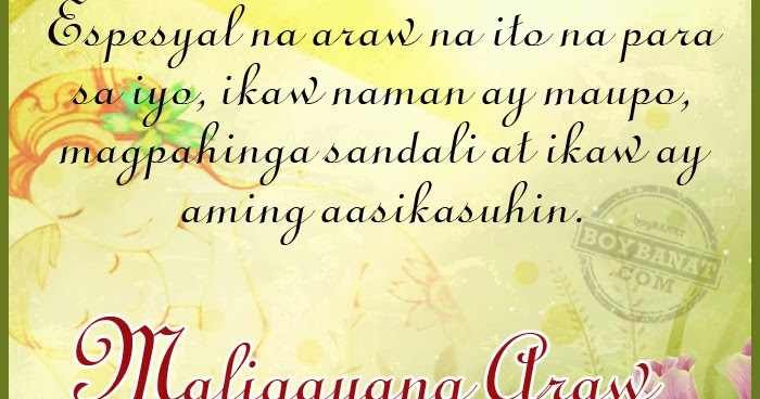 Tagalog Mother S Day Quotes And Pinoy Happy Mother S Day Sayings Boy Banat