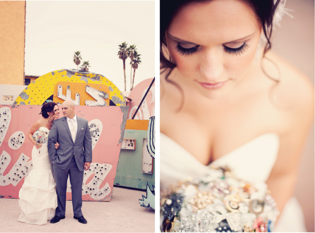 CASTLE WEDDING: {Real Weddings} Las Vegas Intimate Wedding