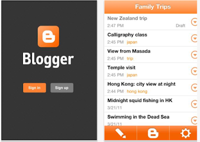 Blogger app for iPhone