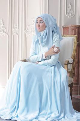 gwon cantik dan manis biru pastel Dian Pelangi