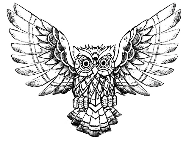 Coloringpageowlrawdrawing Free To Print