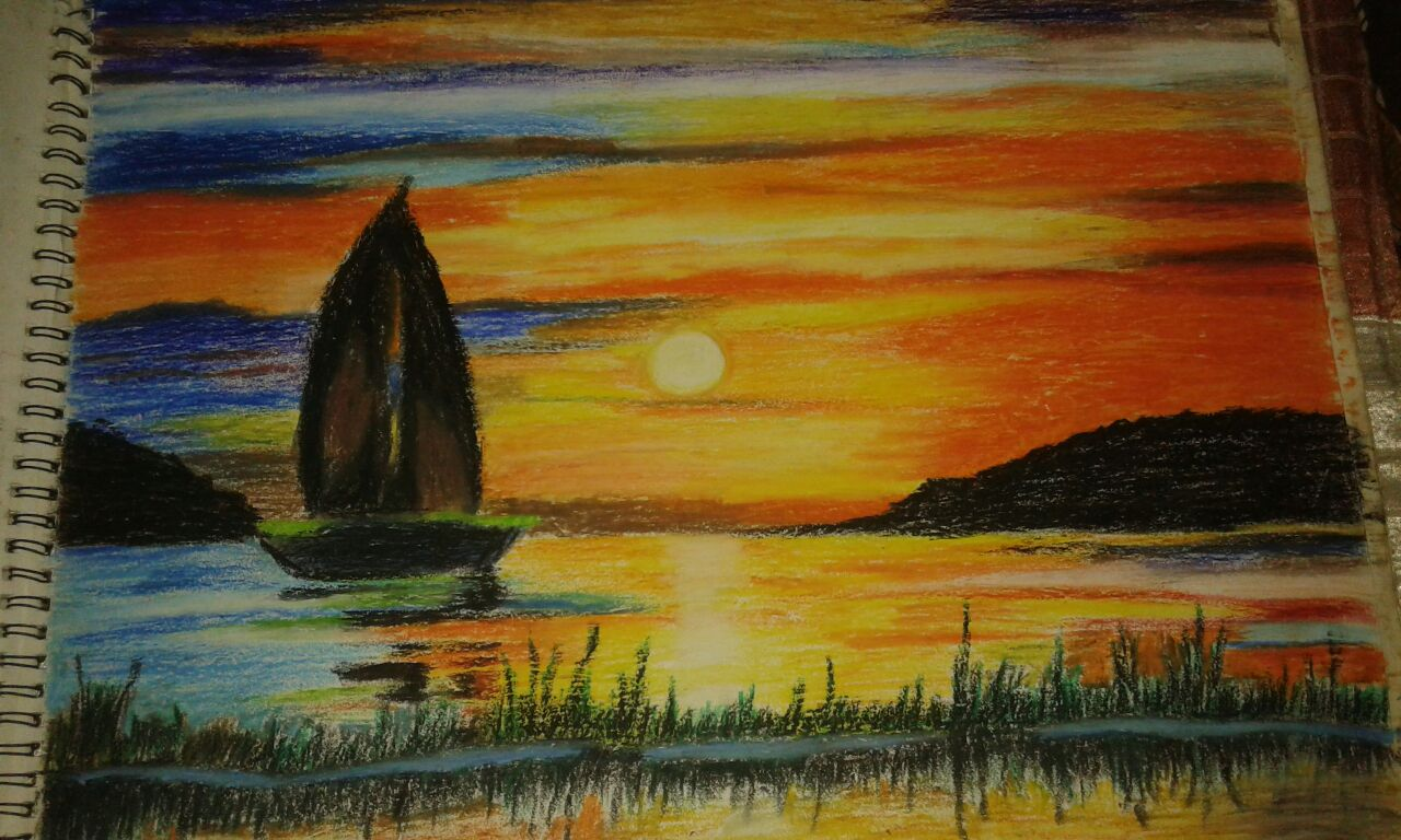 Oil Pastel Color Painting
