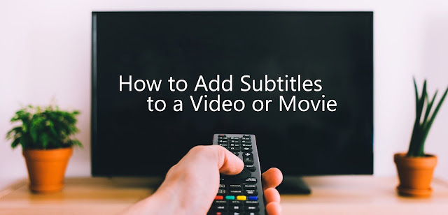 How to add subtitles to videos and movies with VideoPad