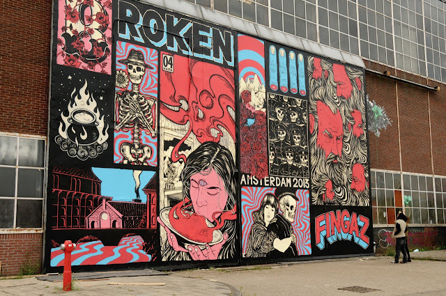 street artist broken fingaz mural in amsterdam