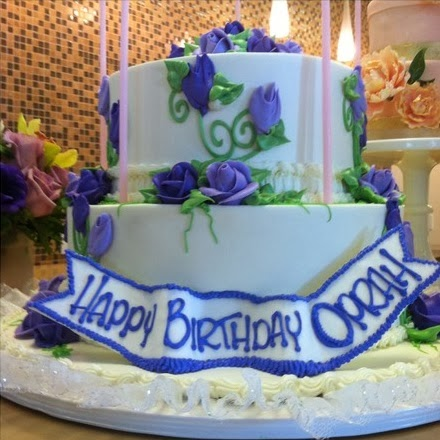 Oprah Winfrey's 60th birthday cake