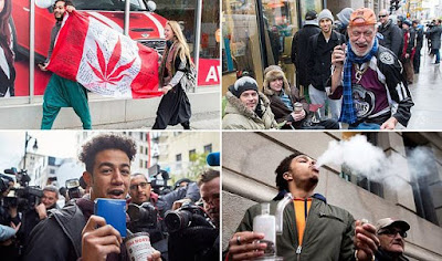Discover Canadians Celebrating Their First Day Of Legal Cannabis Use