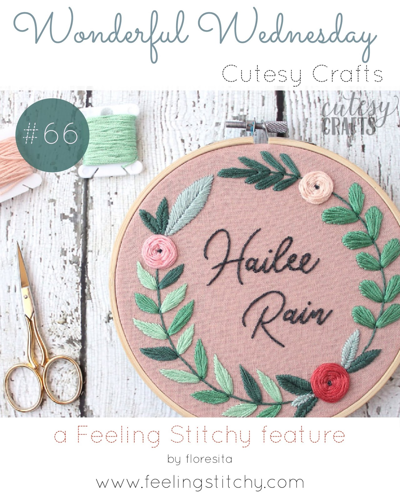 Wonderful Wednesday 66 - Cutesy Crafts a feature by floresita for Feeling Stitchy