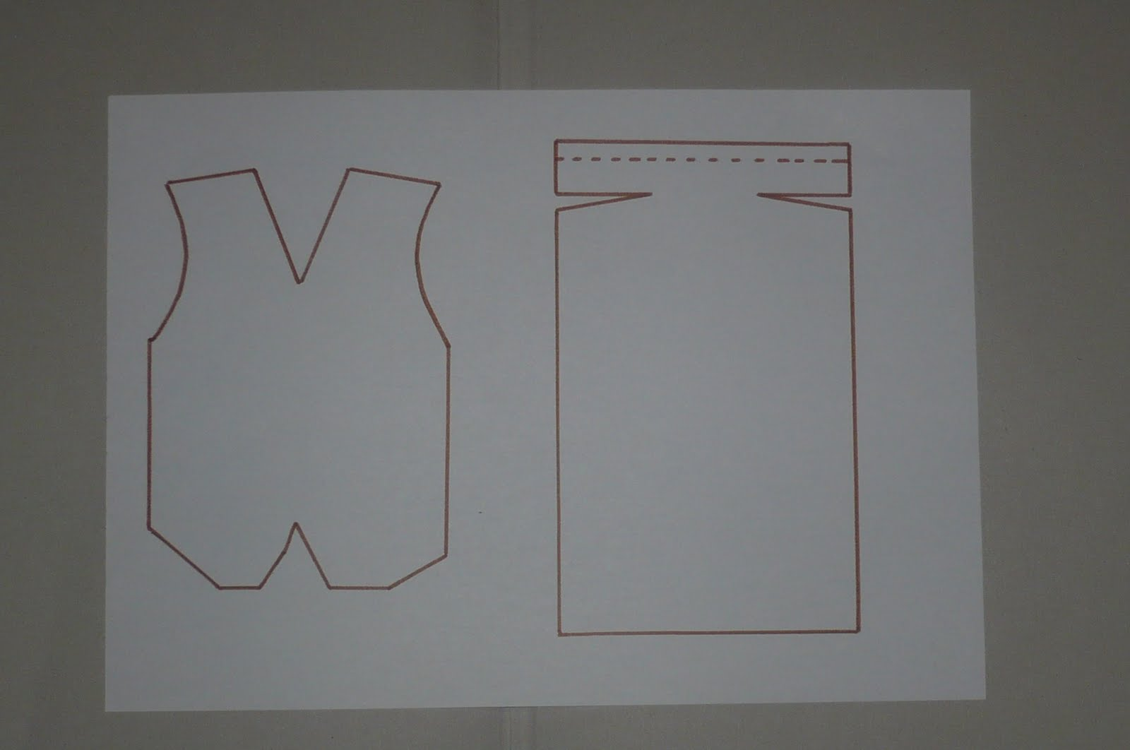 Шаблон открытка рубашка